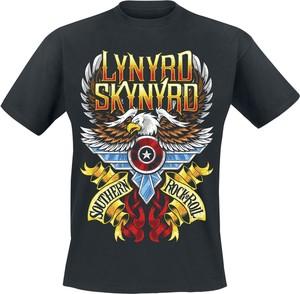 Czarny t-shirt Lynyrd Skynyrd w młodzieżowym stylu z bawełny z krótkim rękawem