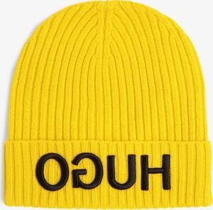 Żółta czapka Hugo Boss