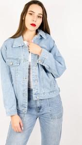 Niebieska kurtka Olika krótka z jeansu