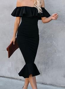 Sukienka Sandbella hiszpanka z krótkim rękawem ołówkowa