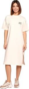 Sukienka Be prosta z okrągłym dekoltem z krótkim rękawem