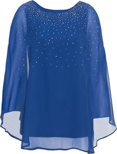 Niebieska bluzka bonprix BODYFLIRT boutique