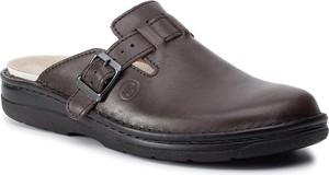Brązowe buty letnie męskie Berkemann z klamrami