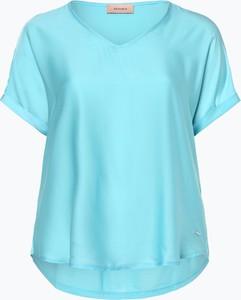Miętowy t-shirt Triangle w stylu casual z krótkim rękawem