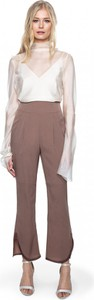 Brązowe spodnie ANETA KRĘGLICKA X L'AF