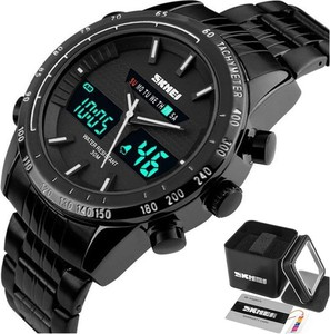Zegarek MĘSKI SKMEI 1131 biały TACHOMETR LED