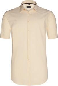 Koszula Tom Rusborg z krótkim rękawem z bawełny z klasycznym kołnierzykiem