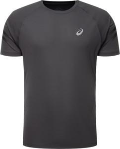 Czarny t-shirt ASICS z krótkim rękawem