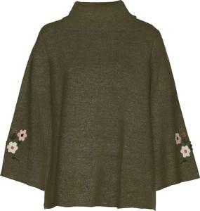 Zielony sweter bonprix bpc selection w stylu casual