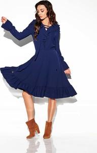 Niebieska sukienka Lemoniade midi w stylu boho