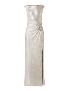 Srebrna sukienka Ralph Lauren prosta maxi bez rękawów