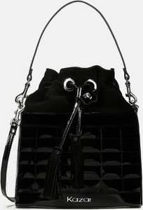 Czarna torebka Kazar w stylu glamour