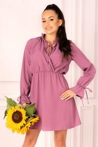 Sukienka MERRIBEL kopertowa z długim rękawem