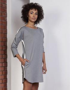 Sukienka Lanti sportowa mini z długim rękawem
