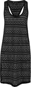 Czarna sukienka bonprix bpc selection z okrągłym dekoltem bez rękawów w stylu casual