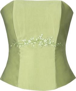 Zielona bluzka Fokus w stylu glamour
