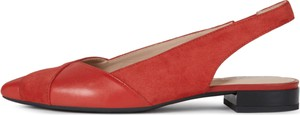 Czerwone sandały Geox w stylu casual ze skóry
