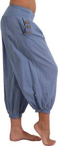 Niebieskie spodnie Cikelly w stylu retro z dresówki