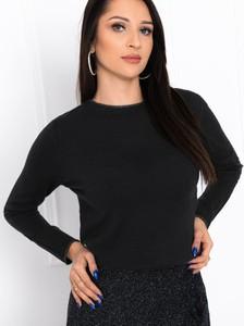 Czarny sweter Edoti w stylu casual