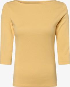 Żółty t-shirt brookshire z golfem