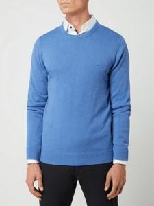 Niebieski sweter Christian Berg Men z okrągłym dekoltem
