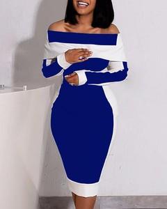 Sukienka Kendallme midi dopasowana z długim rękawem