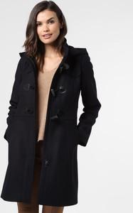 Czarny płaszcz Marie Lund z wełny