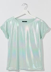 Miętowy t-shirt Mohito
