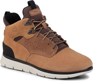 Brązowe buty sportowe dziecięce Timberland sznurowane