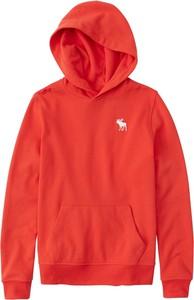 Czerwona bluza dziecięca Abercrombie & Fitch