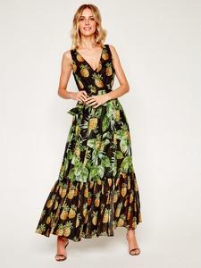 Sukienka Twinset z dekoltem w kształcie litery v na ramiączkach maxi