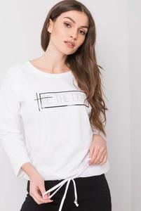 Bluzka Sheandher.pl z bawełny z okrągłym dekoltem z długim rękawem
