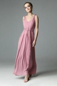 Sukienka Madnezz maxi z dekoltem w kształcie litery v oversize