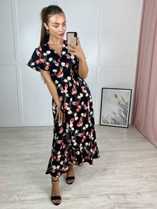 Sukienka Produkt Import maxi z krótkim rękawem w stylu boho