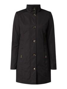 Czarny płaszcz Montego z bawełny