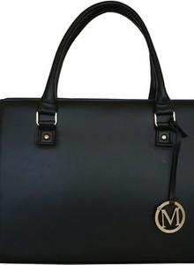 Czarna torebka Manzana w stylu glamour