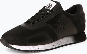 Czarne buty sportowe Trussadi Jeans z tkaniny
