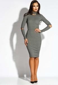 Sukienka Dursi z dekoltem typu choker