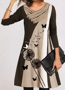 Sukienka Cikelly mini w stylu casual z długim rękawem