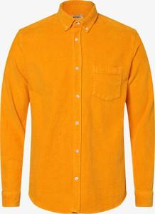 Pomarańczowa koszula Redefined Rebel ze sztruksu z długim rękawem z kołnierzykiem button down