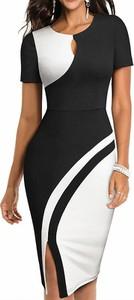 Sukienka Arilook z okrągłym dekoltem z krótkim rękawem