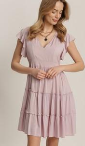 Sukienka Renee z krótkim rękawem mini trapezowa