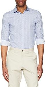 Niebieska koszula amazon.de w stylu casual z długim rękawem