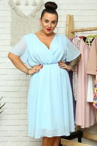 Niebieska sukienka KARKO z krótkim rękawem