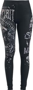 Czarne legginsy Emp w sportowym stylu z nadrukiem