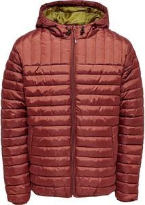 Czerwona kurtka Only & Sons w stylu casual krótka