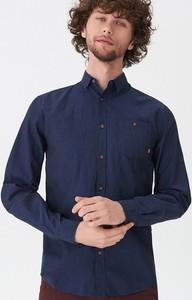 Niebieska koszula House w stylu casual z długim rękawem