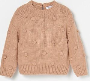 Brązowy sweter Reserved dla dziewczynek