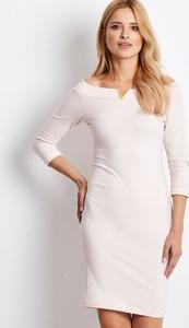 Sukienka Sheandher.pl z bawełny z dekoltem w kształcie litery v