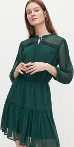 Sukienka Reserved z tkaniny z długim rękawem